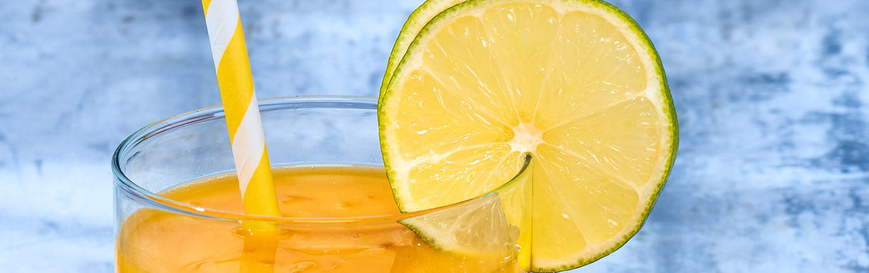 jus de mangue litchi citron vert tonic
