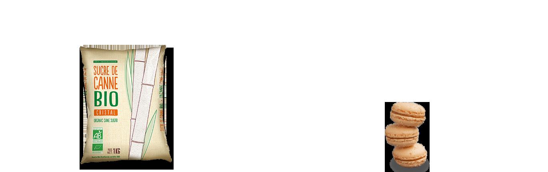 Sucre cristal poly de canne bio spécial distribution automatique
