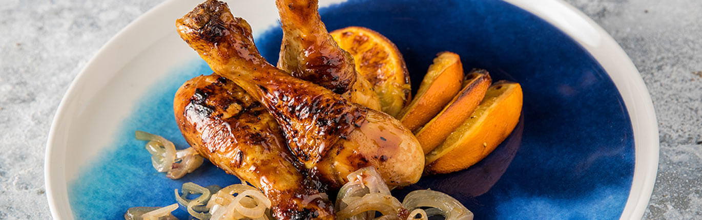 Pilons poulet orange gingembre