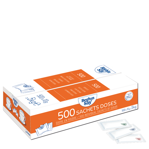 sachets doses 500x10g sucre Béghin Say